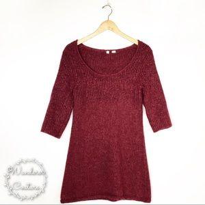 Anthro Moth Alpaca Blend Sweater Mini Dress